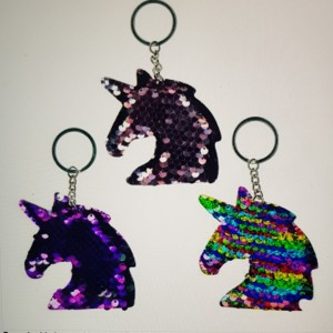 Sequin Unicorn Keyrings
