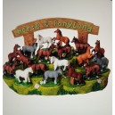 Model Horses and Display Stand