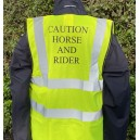 Fluorescent Waistcoat Caution Young Horse